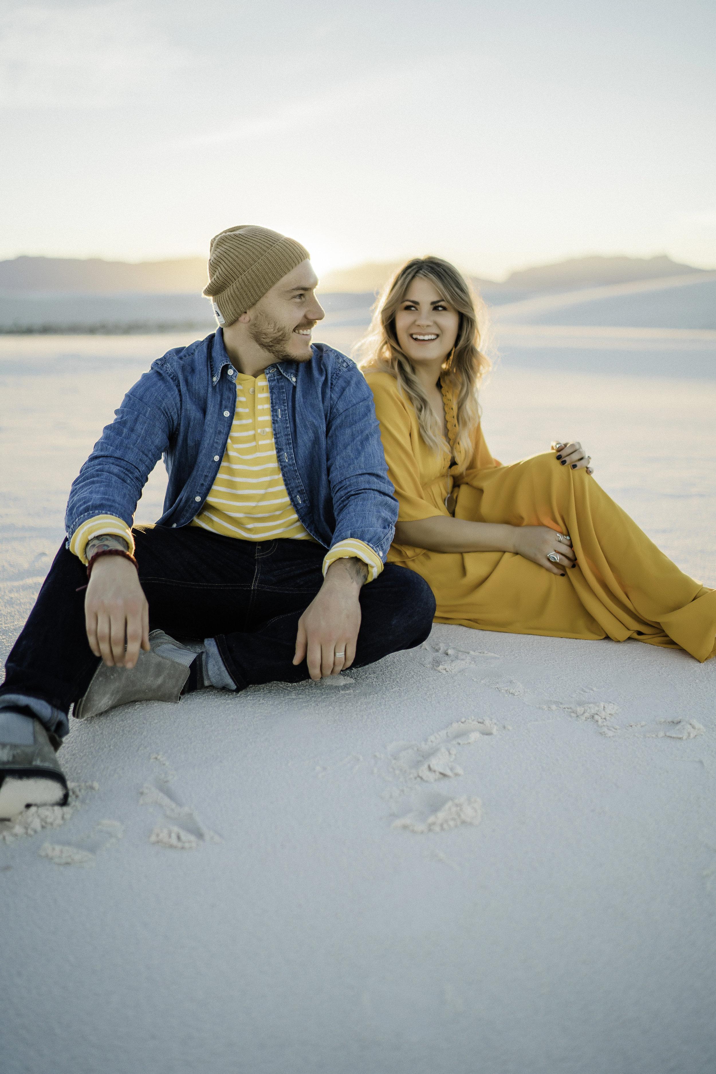 Jon & Letty Portraits  White Sands, NM