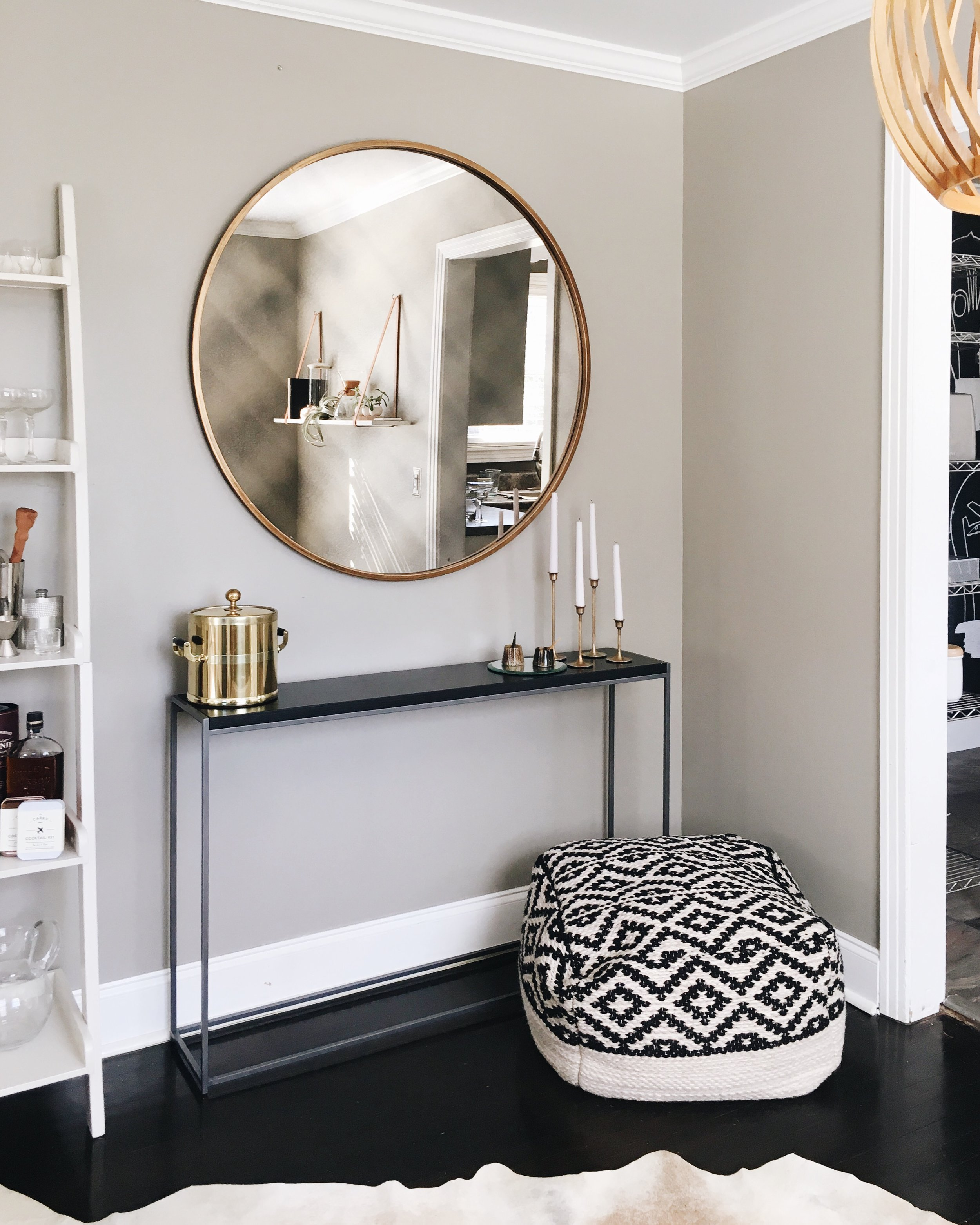 ATG Stores:  Uttermost Mirror ,  International Concepts Shelf ,  Wabash Console