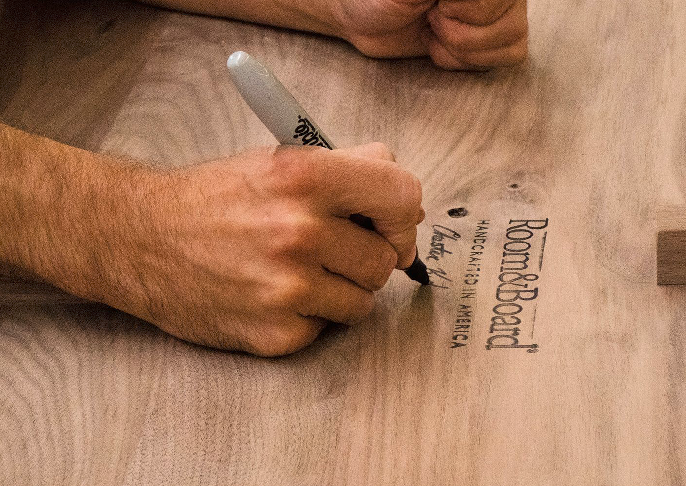 My table for example was made at Caperton Furniture in West Virginia and personally signed by it's maker, Nikki.