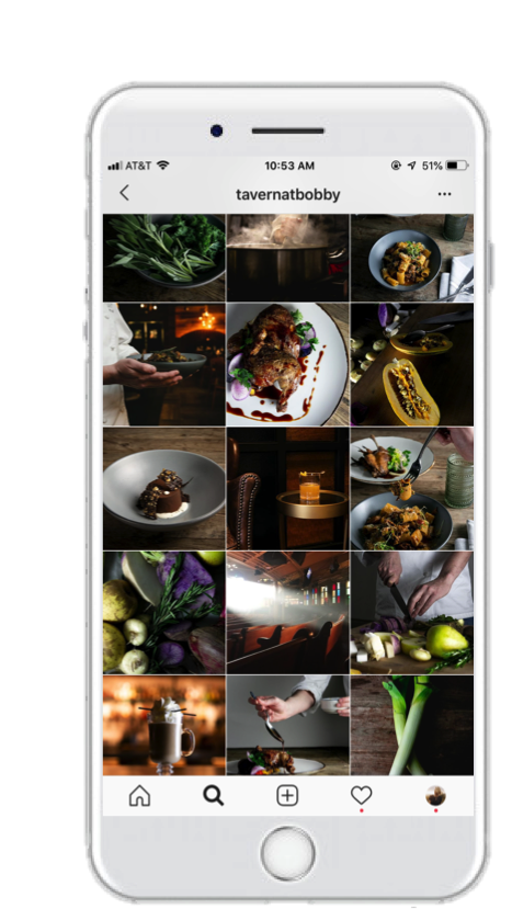 I love how Bobby is using the imagery - to create a beautifully curated Instagram. The photos can also been seen in press and publications for the restaurant!