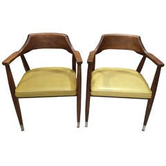Pair of Mid-Century Walnut Chairs