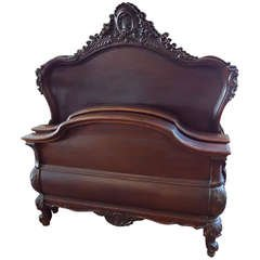 Mahogany Carved Twin Beds