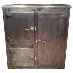 Antique Industrial Ice Box