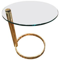 Pace Brass and Glass Table