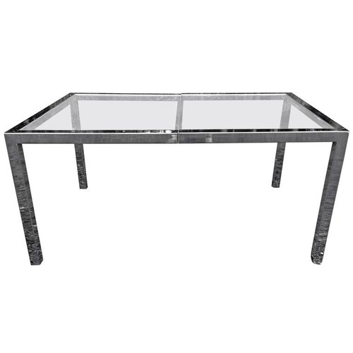 Milo Baughman Chrome Desk
