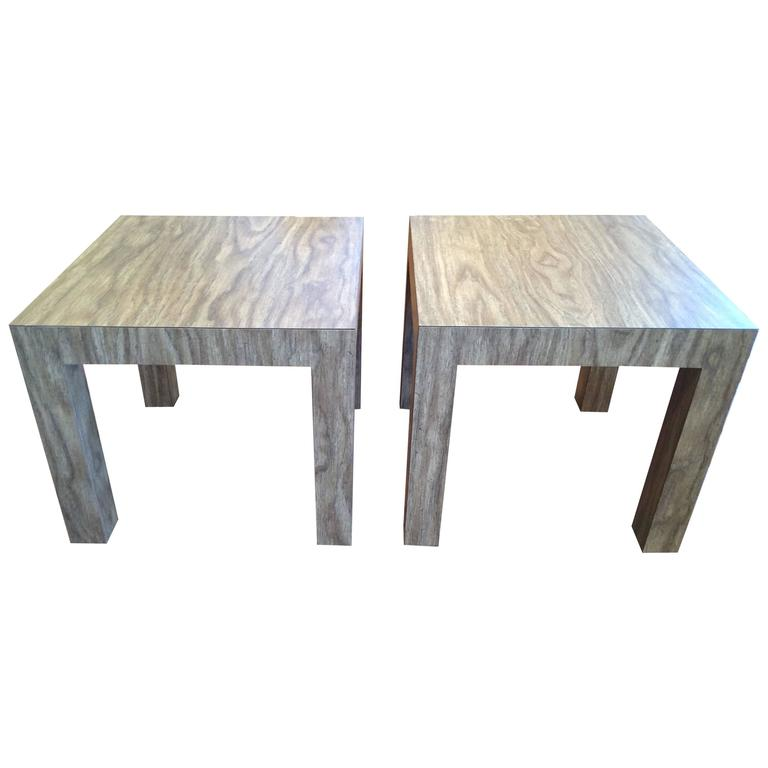 Wood Grain Parsons Tables