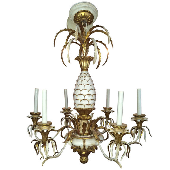 Gilt Pineapple Chandelier