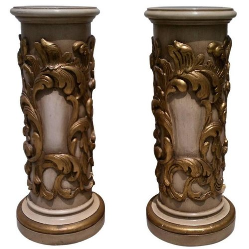 Carved and Gilded Pedestals