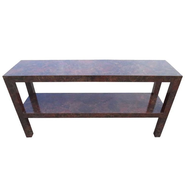 Faux Tortoise Shell Sofa Table