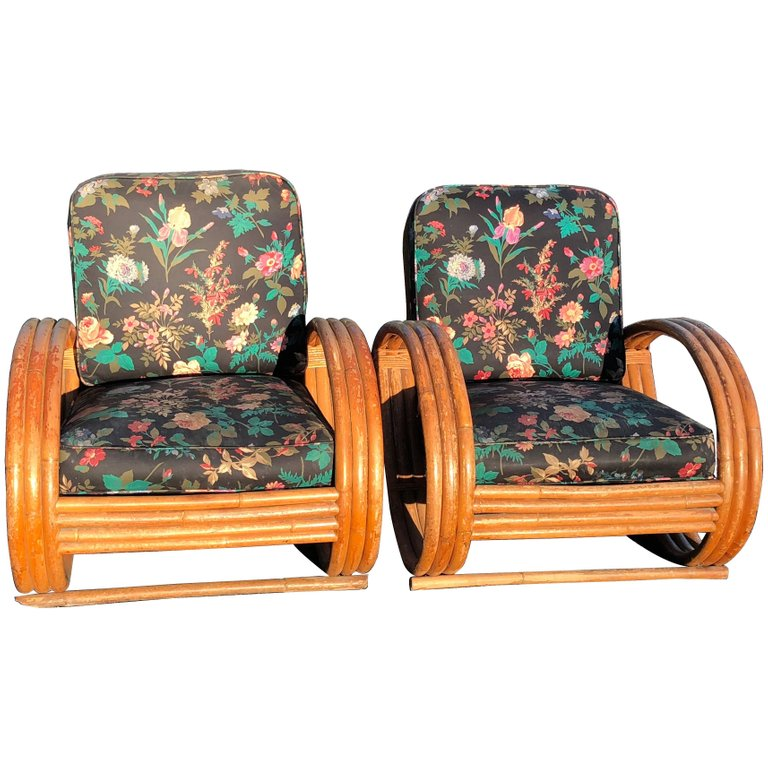 Paul Frankl Style Pair of Lounge Chairs