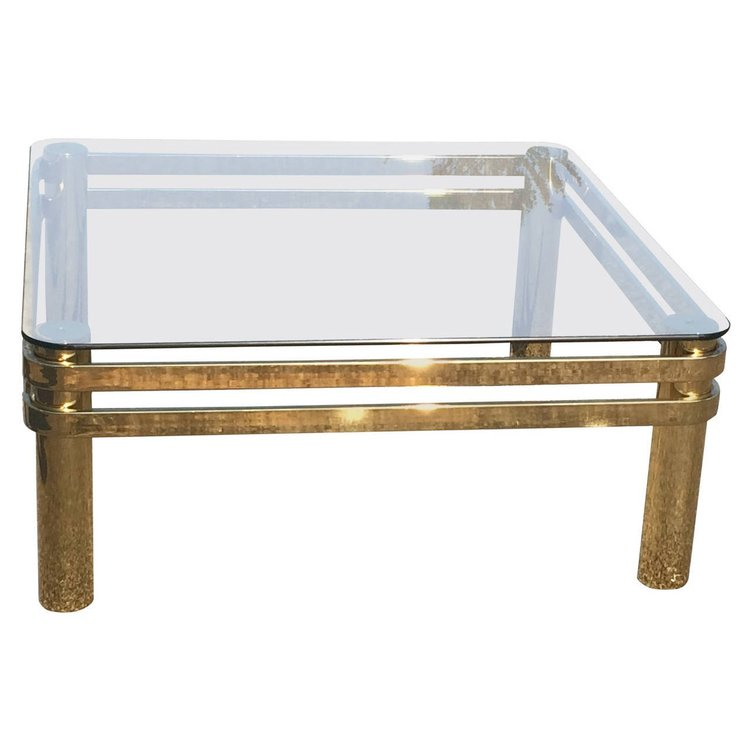 Brass  Coffee Table by Pace