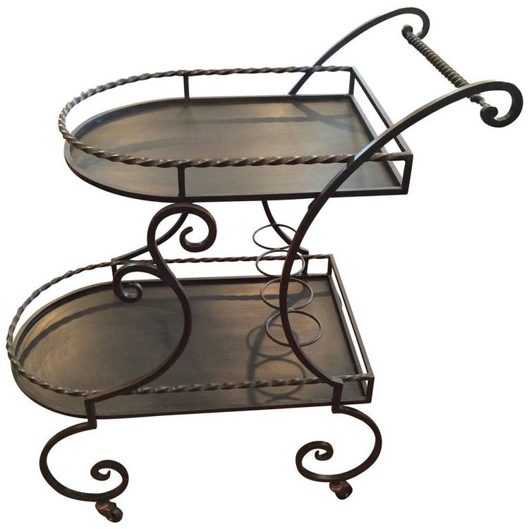 Wrought Iron Bar Cart