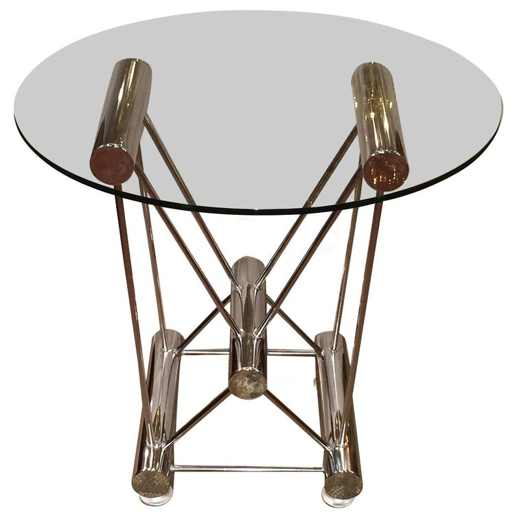 Sculptural Tubular Table