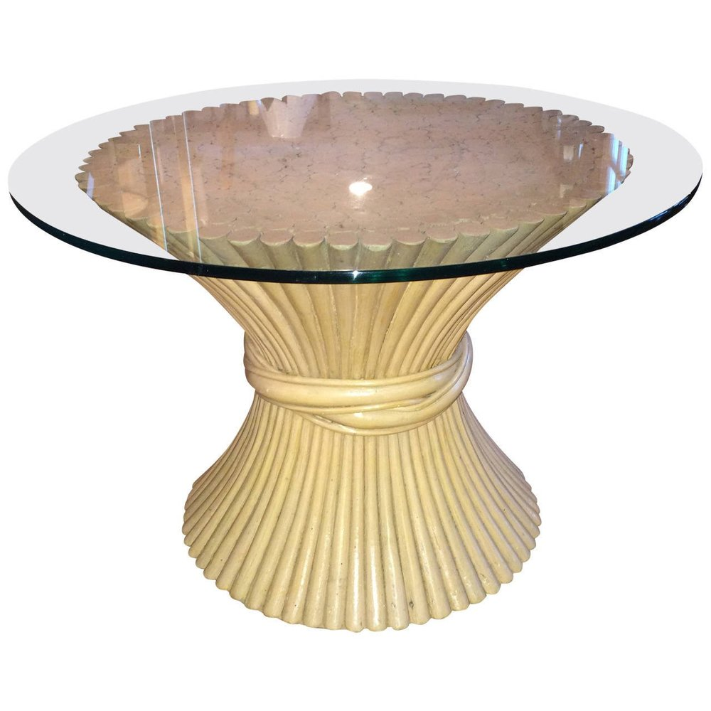 McGuire Round Bamboo Table