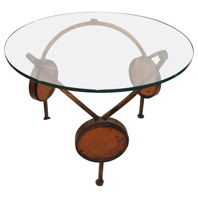 Iron and Blown Glass Table