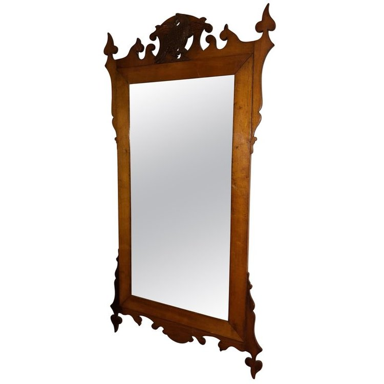 Federal Carved Wooden Mirror