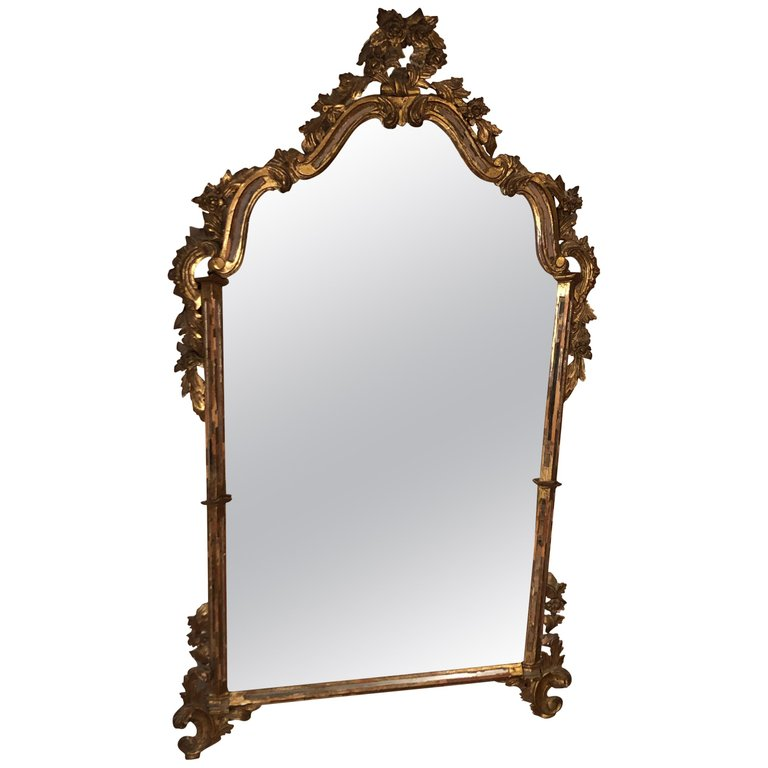 Antique Italian Baroque Mirror, La Barge Mirrors