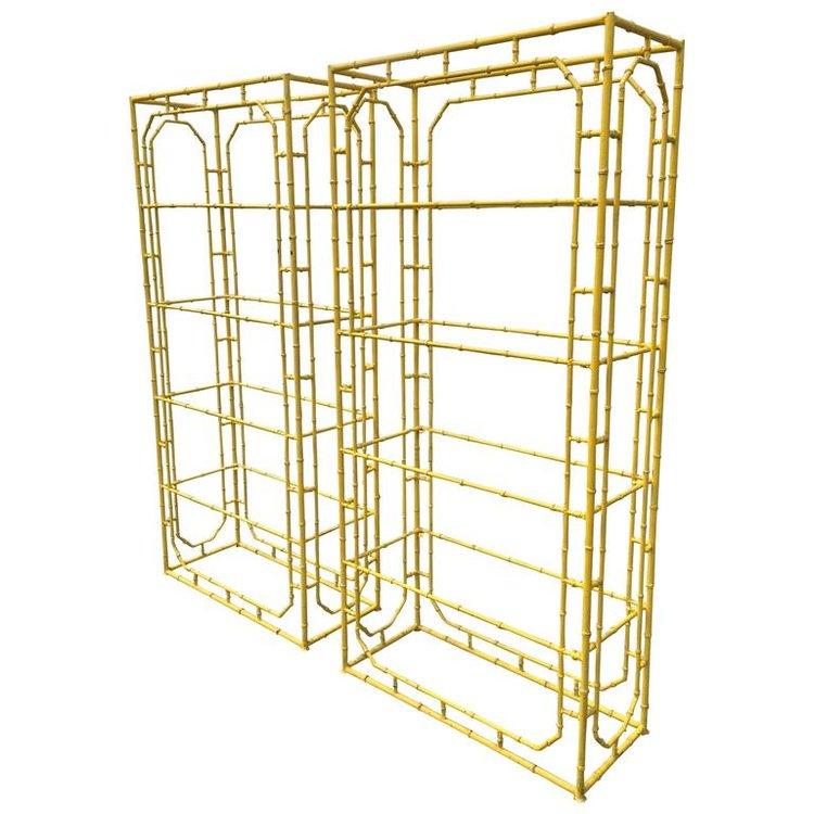 Faux Bamboo Iron Etageres
