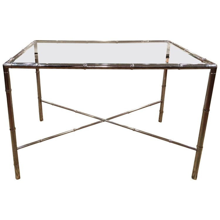 Faux Bamboo Glass Table