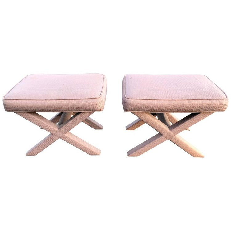 Pair of X-Base Stools