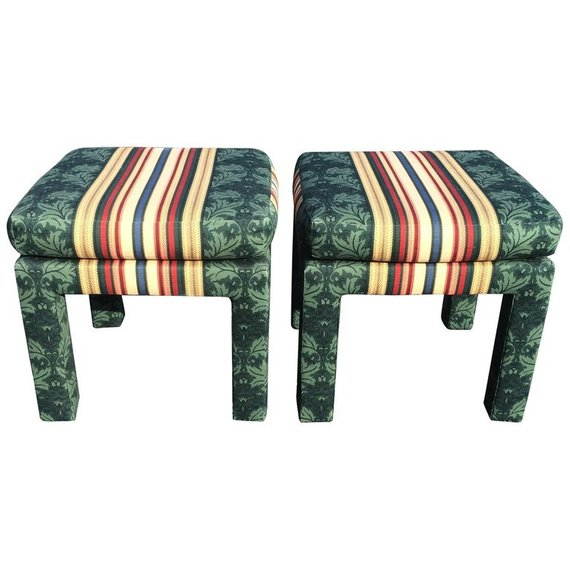 Pair of Square Parsons Stools