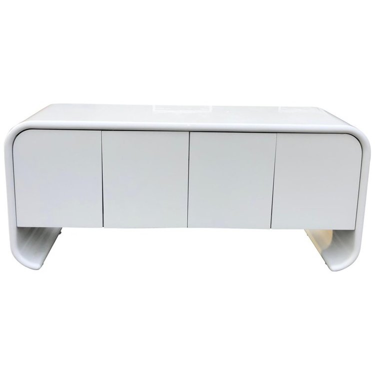 Lacquered Waterfall Credenza