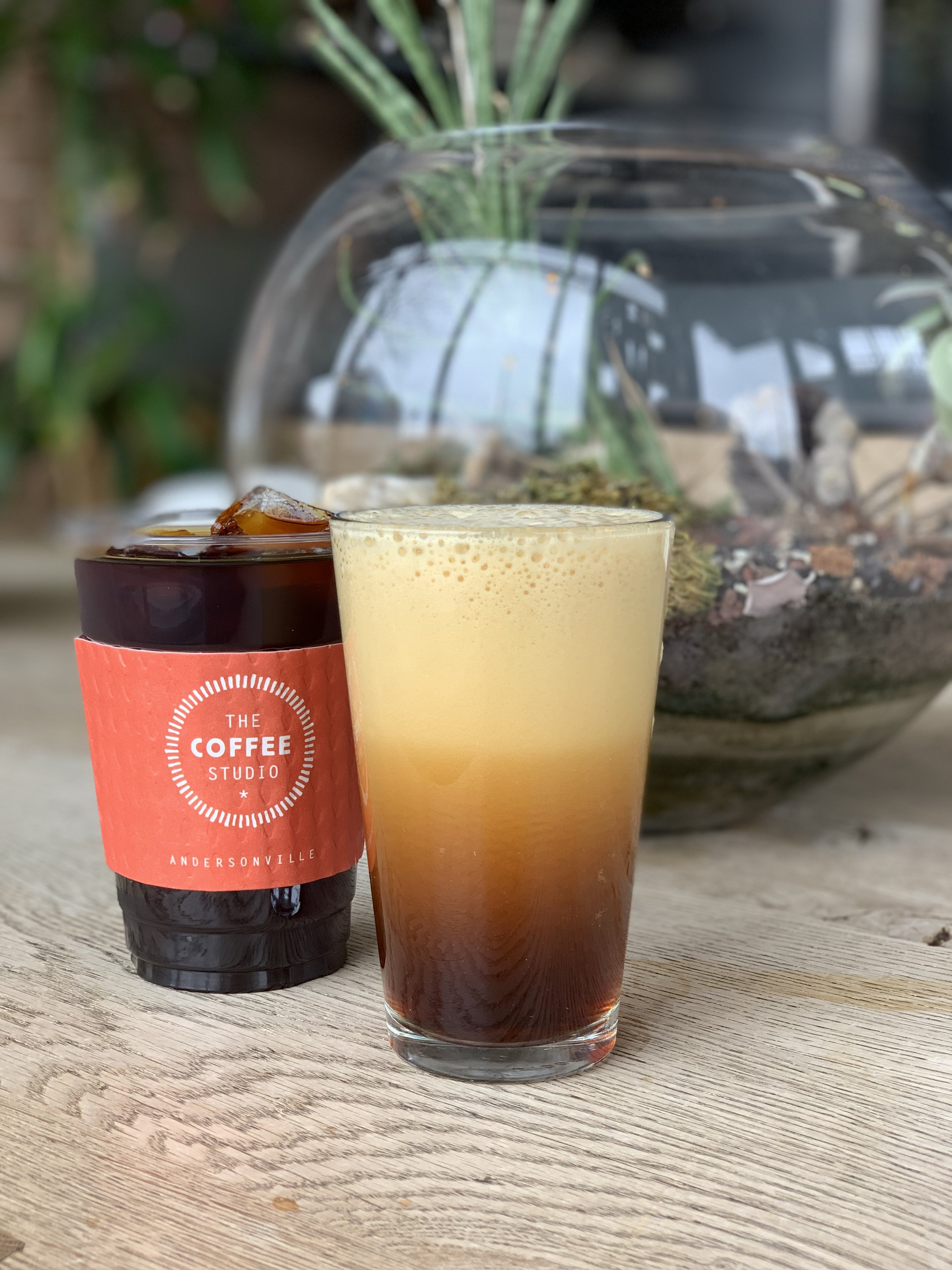 Try this light, luscious and creamy iced coffee… no dairy required. - Our beloved house made cold-brewed coffee is now available infused with cascading Nitrogen. It's mesmerizing.Also available lightly sweetened (Dolce) or in a decadent Nitro-Caramelatte.