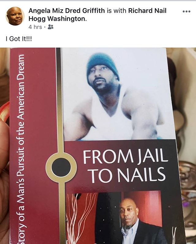 """From Jail To Nails"" is available NOW on Amazon.com. Put the title in the search box, you can either get the E-Book version for $9.99 or you can click on ""paperback"" and order the paperback for $22.95....sit in your favorite chair or curl up in a comfy blanket and follow me on a spine tingling journey of plateaus and pitfalls......from a life of crime and prison time to being a productive member of society and respected entrepreneur. ""From Jail To Nails"" is motivational and inspirational. Get it....read it....be inspired by it.  #FromJailToNails #BuyTheBook"