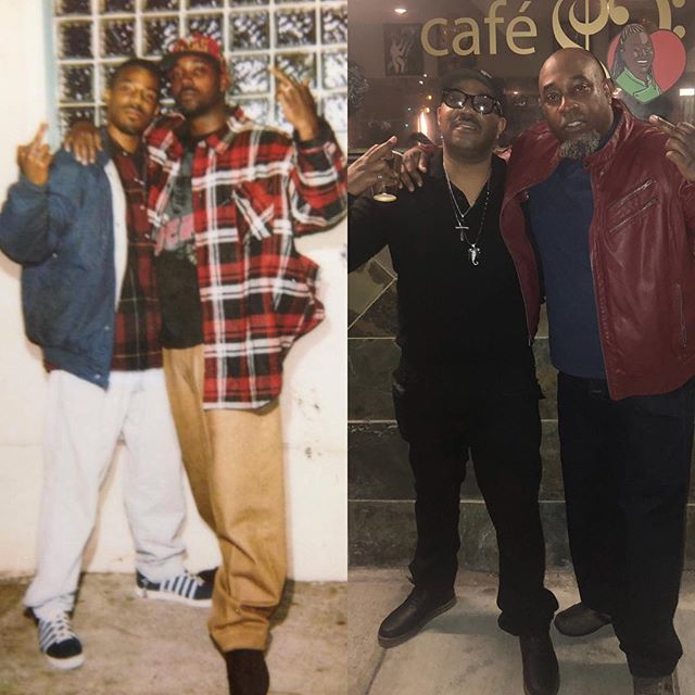 Same place (Monte Carlo 1994 / Cafe Envy 2019) same pose, same friends. Oh what a difference 25 years makes. We still fly mayne. @hpzfinest and @nail_hogg