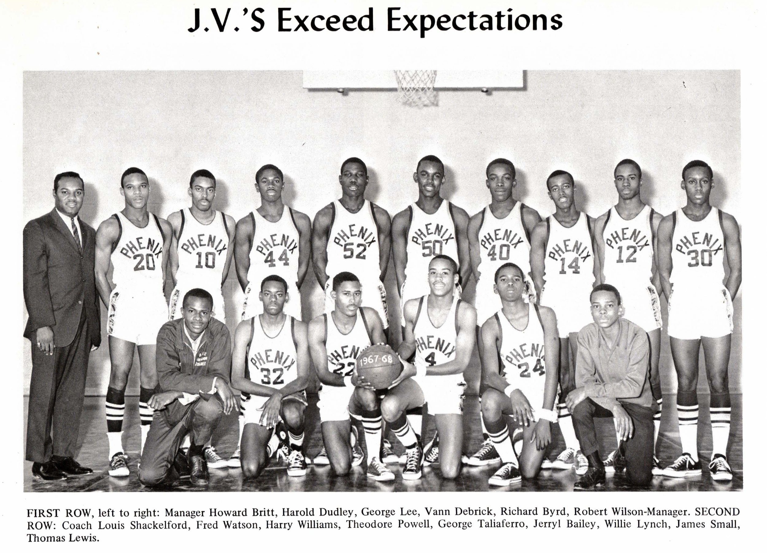 J.V. Basketball Team, 1968