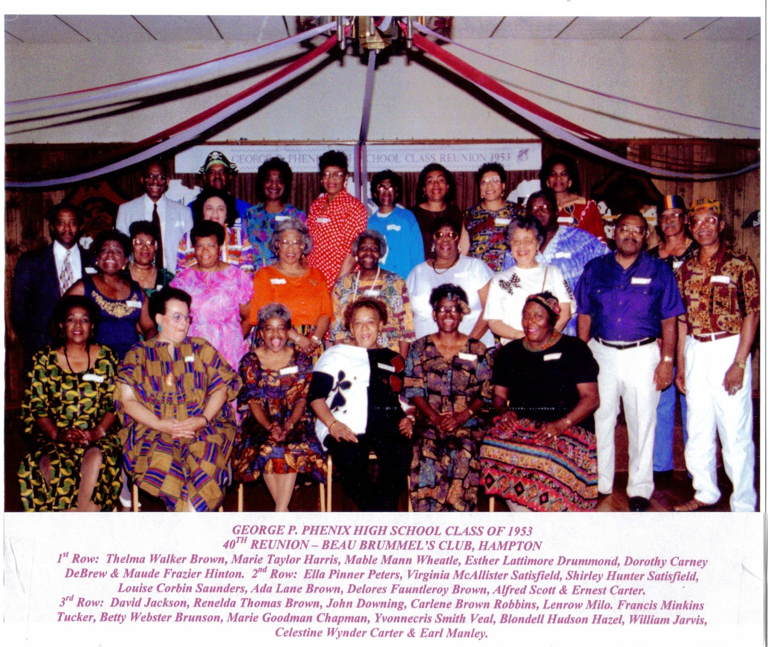 40th Reunion, Class of 1953