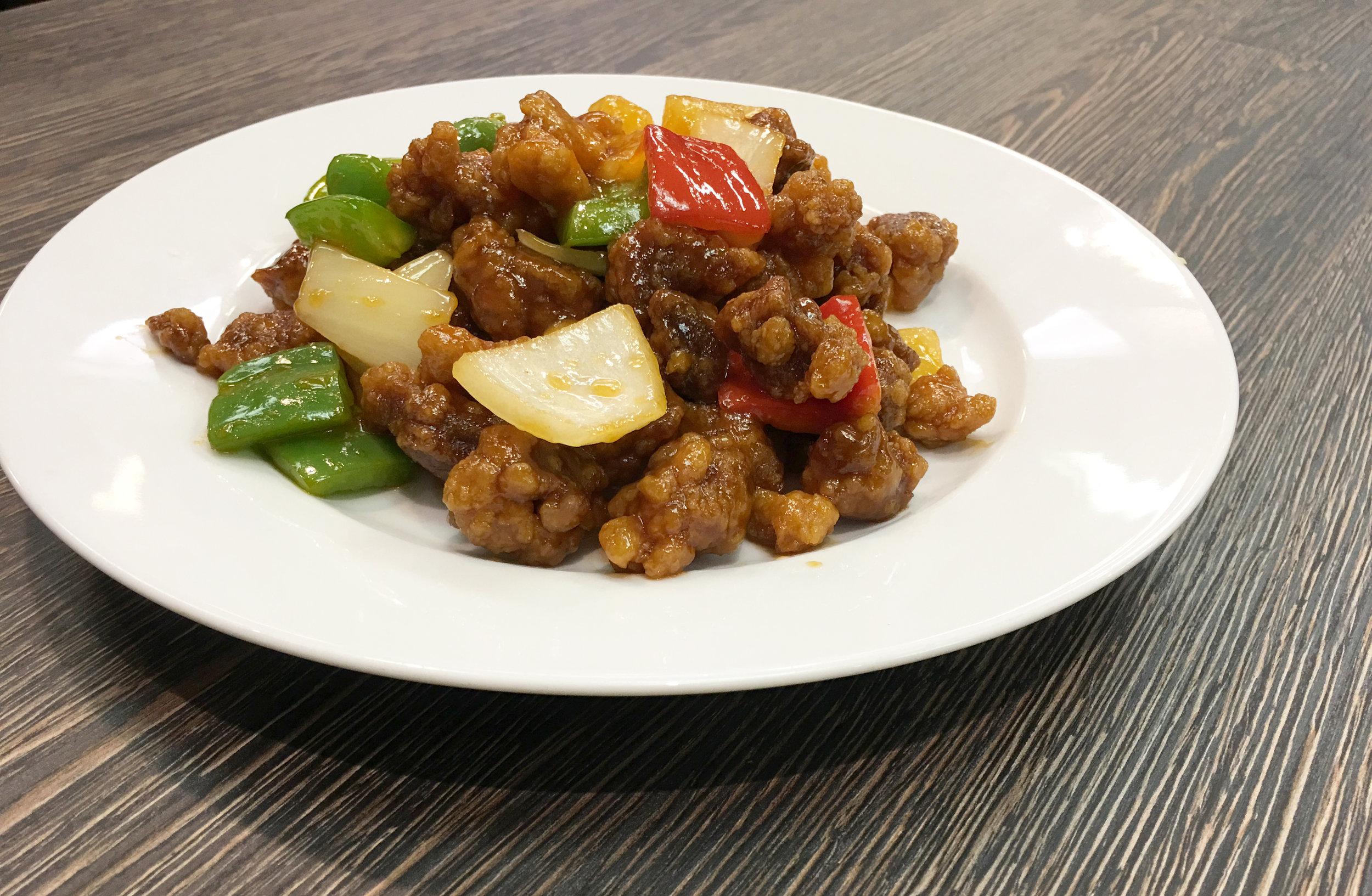 SWEET & SOUR FRIED PORK WITH PINEAPPLE | 菠蘿咕嚕肉