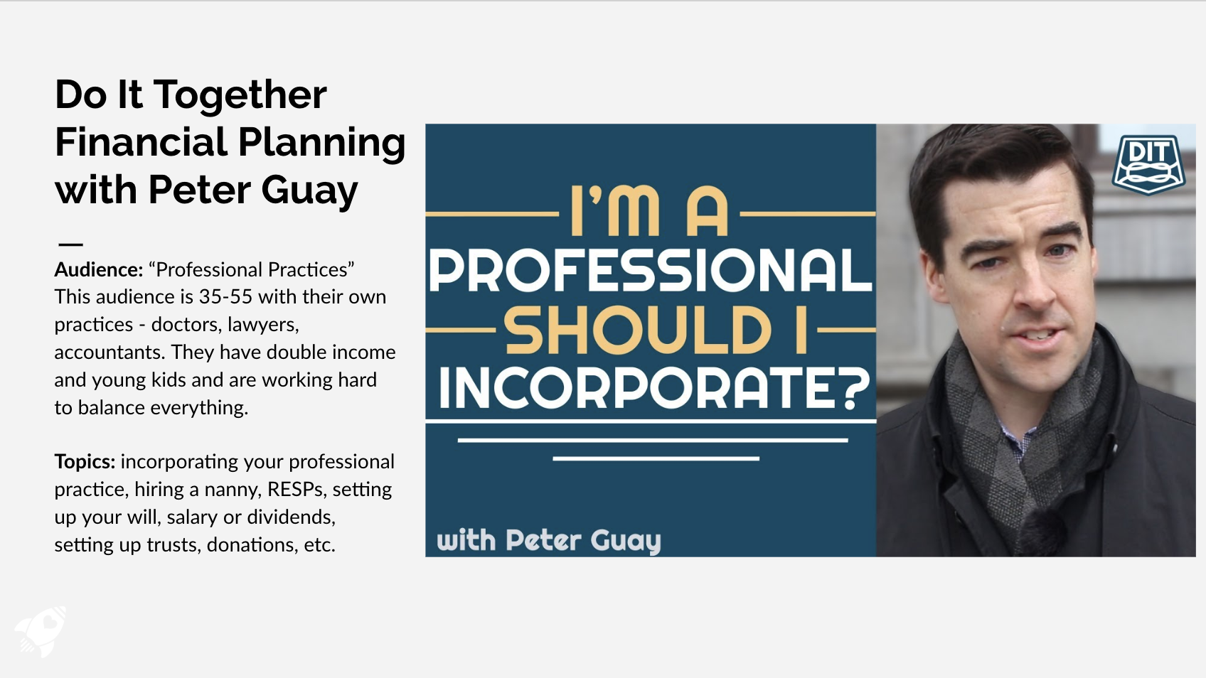 Financial Planning with Peter Guay (EN/FR)
