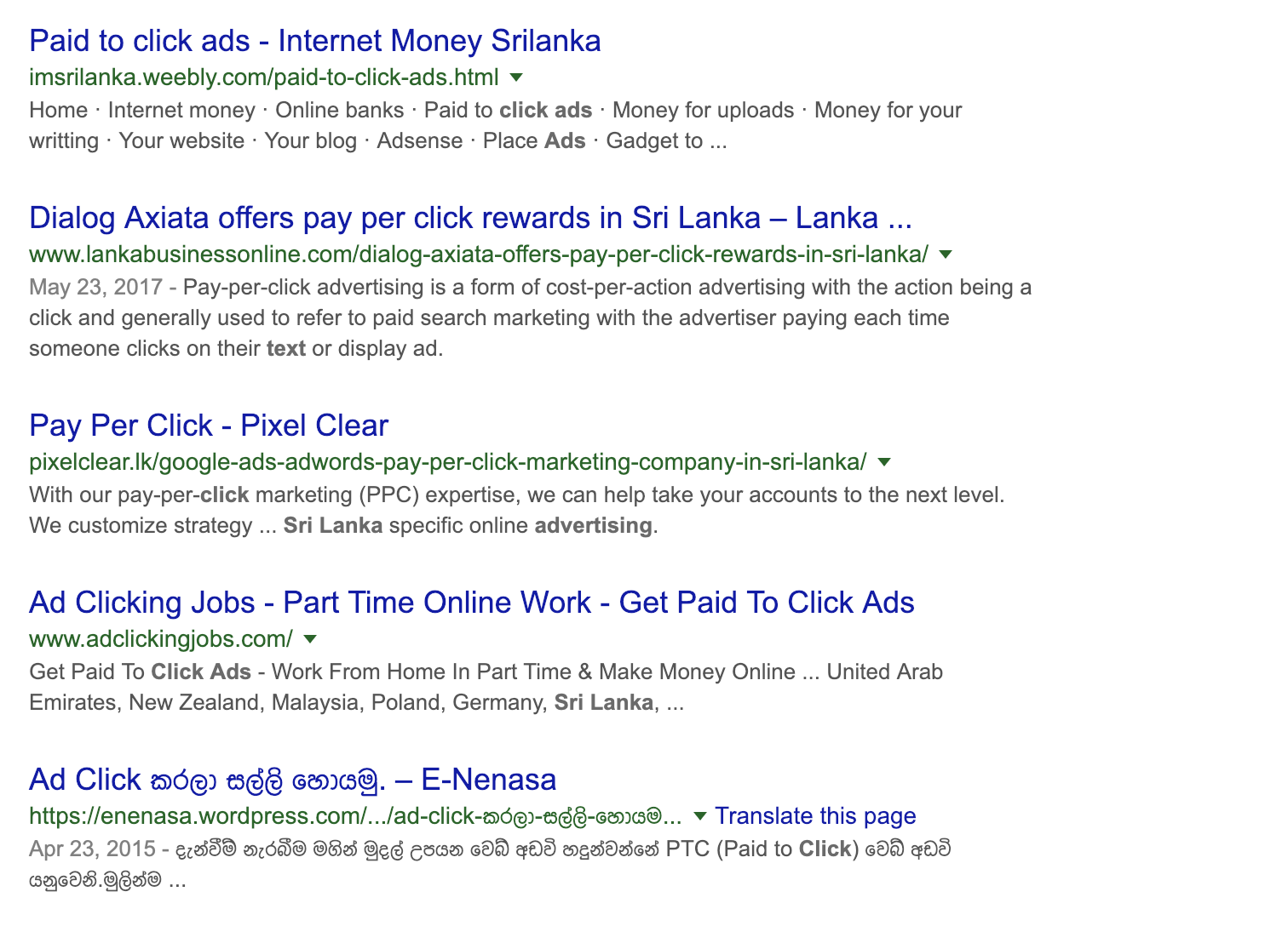 Paid-to-Click is a big industry in many countries. Now you know.