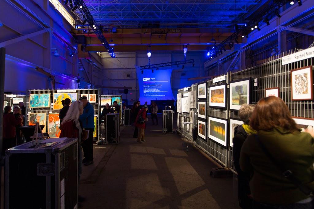 Photo by Joe Martz of BOX '13 Art Show & Sale