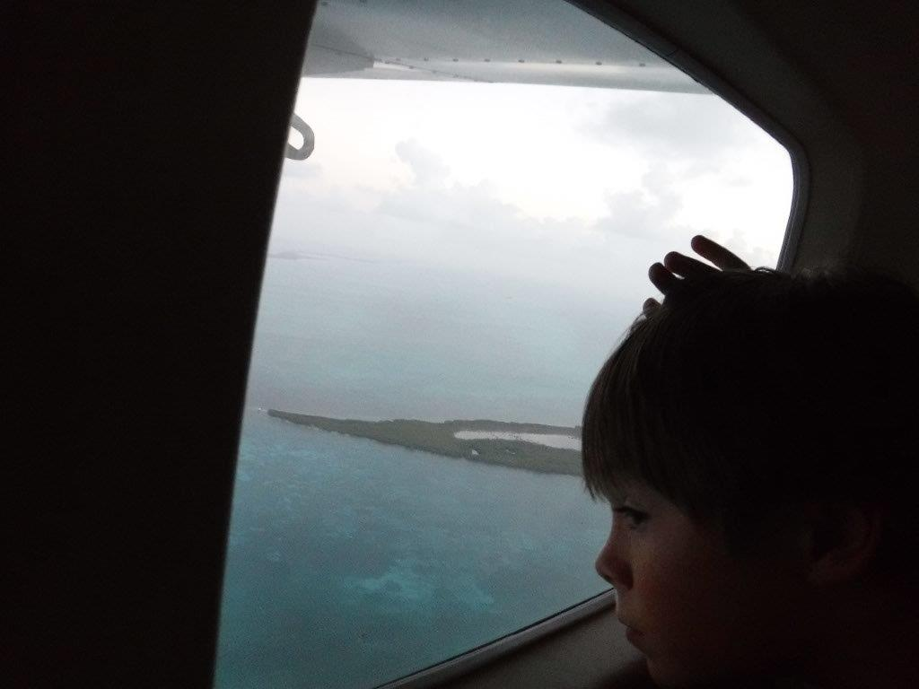 A short float plane ride from Belize City to San Pedro.