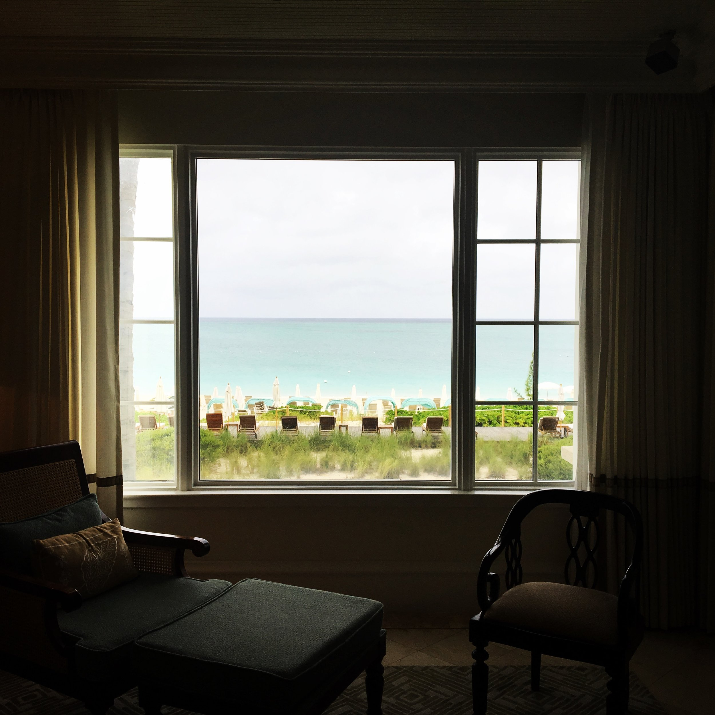 The view from the Ocean Front One Bedroom Suite is not too shabby.