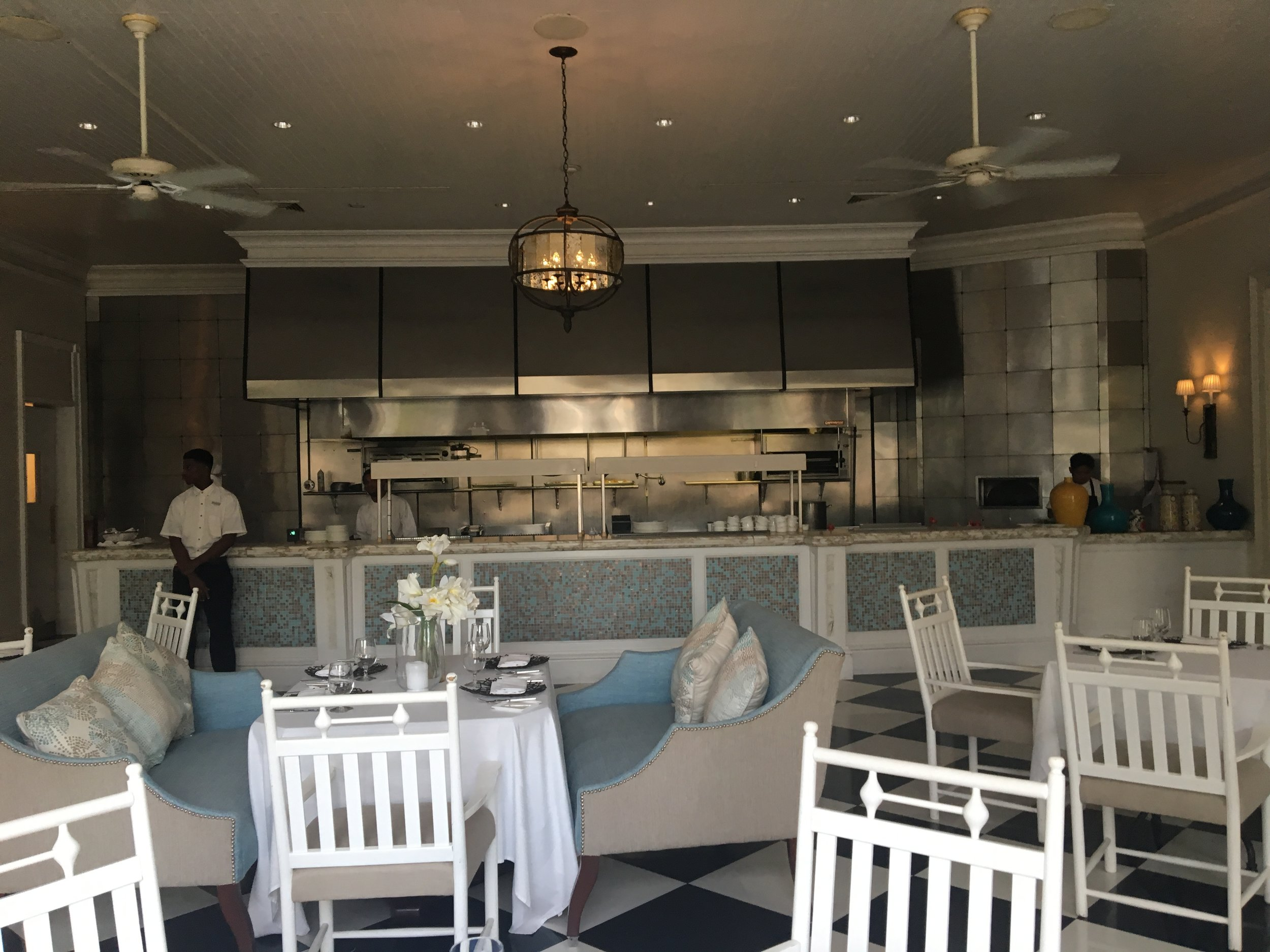 The fine dining option at The Palms, Parallel 13, is phenomenal and also offers lovely outdoor seating.