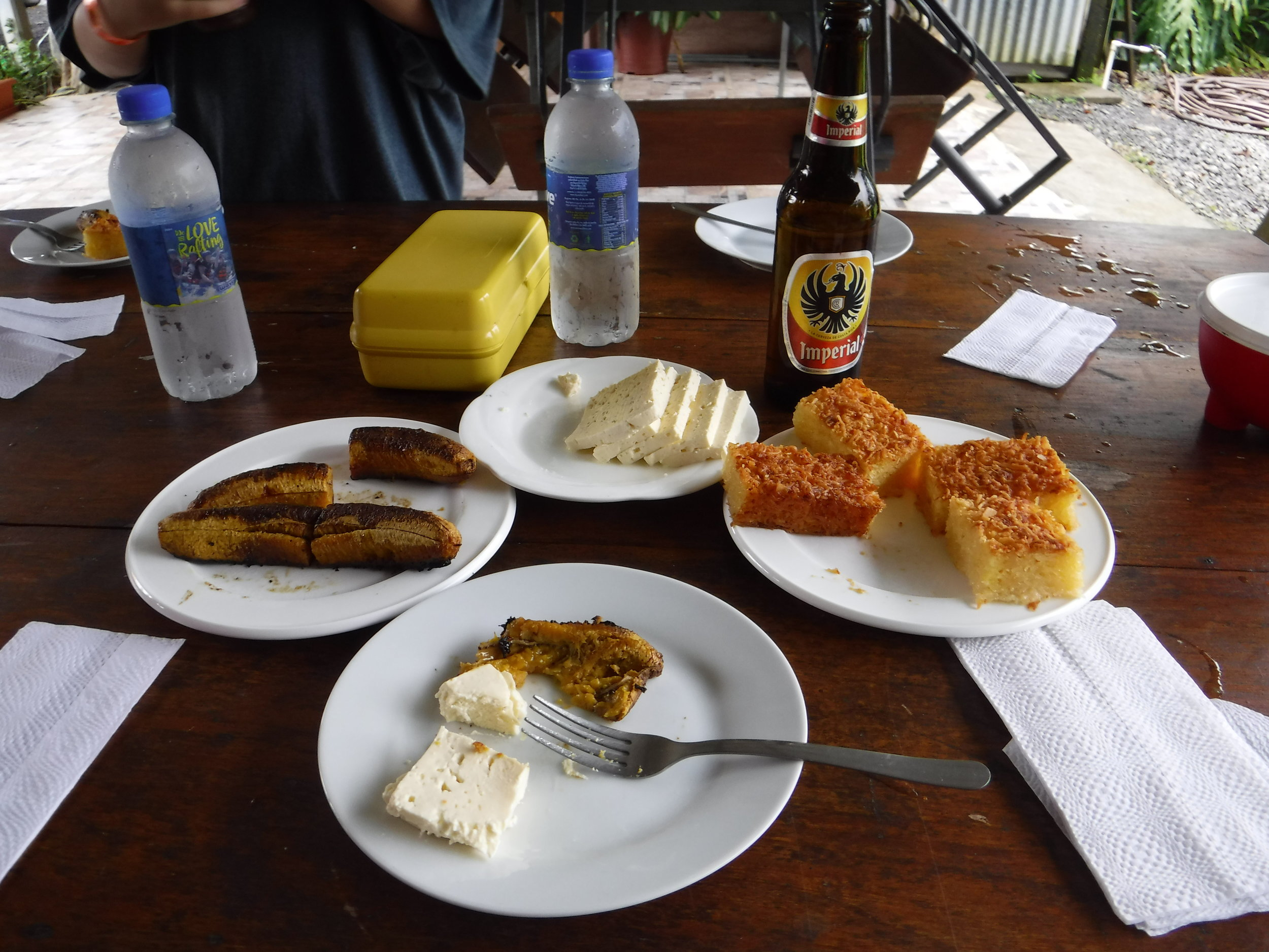 After our rafting adventure, we were treated to a traditional Costa Rican snack.
