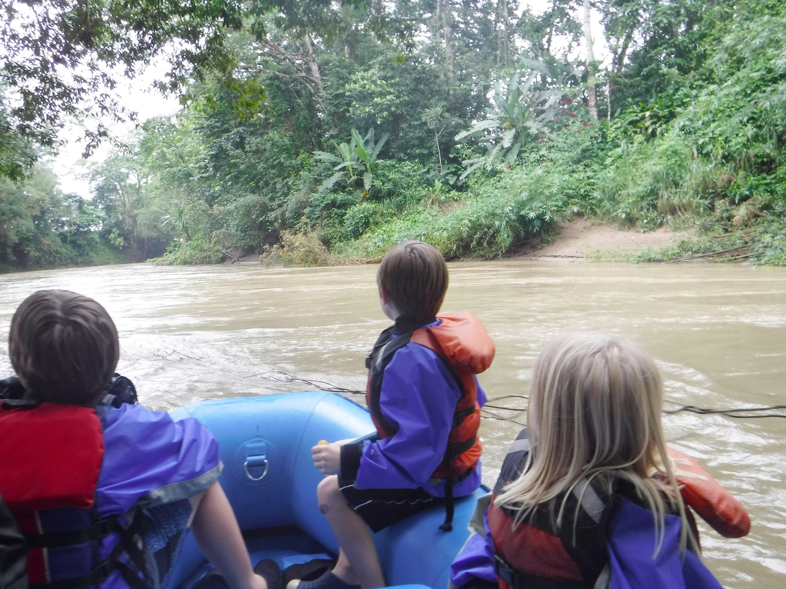 There are rafting adventures for all levels of adventurers! We saw TONS OF monkeys, sloths, caimans and a Jesus Christ Lizard.