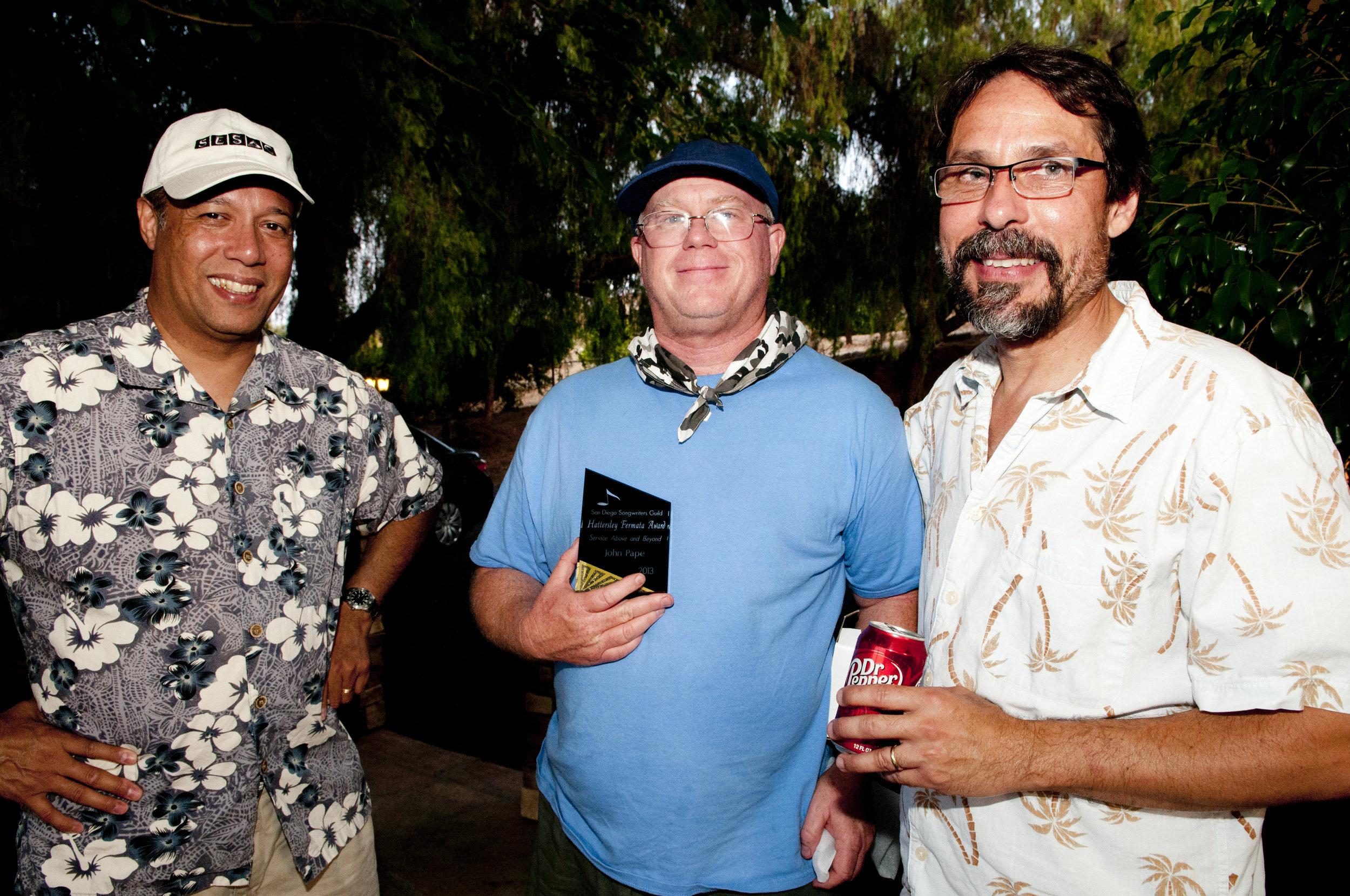 With SDSG's Will Ruiz and Fermata Award winner John Pape