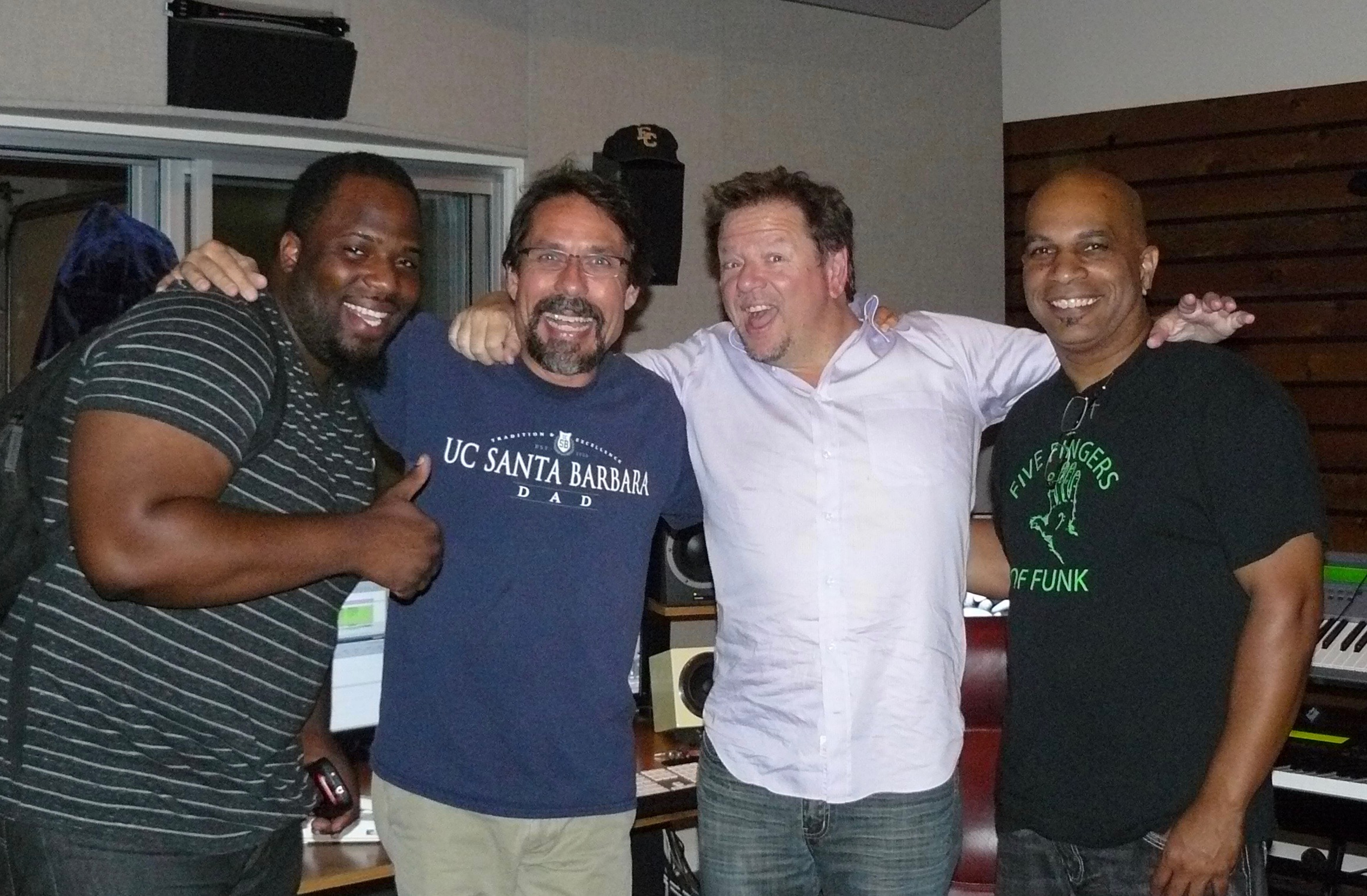 "Post-session with Tim ""Fig"" Newton, Mark, Brian Darnell and Nate Brown"