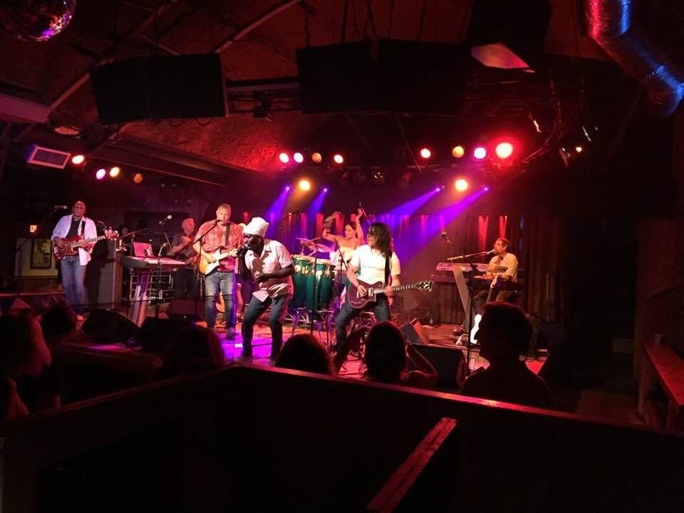 Arnie Vilches sits in with Sully and The Souljahs at the Belly Up