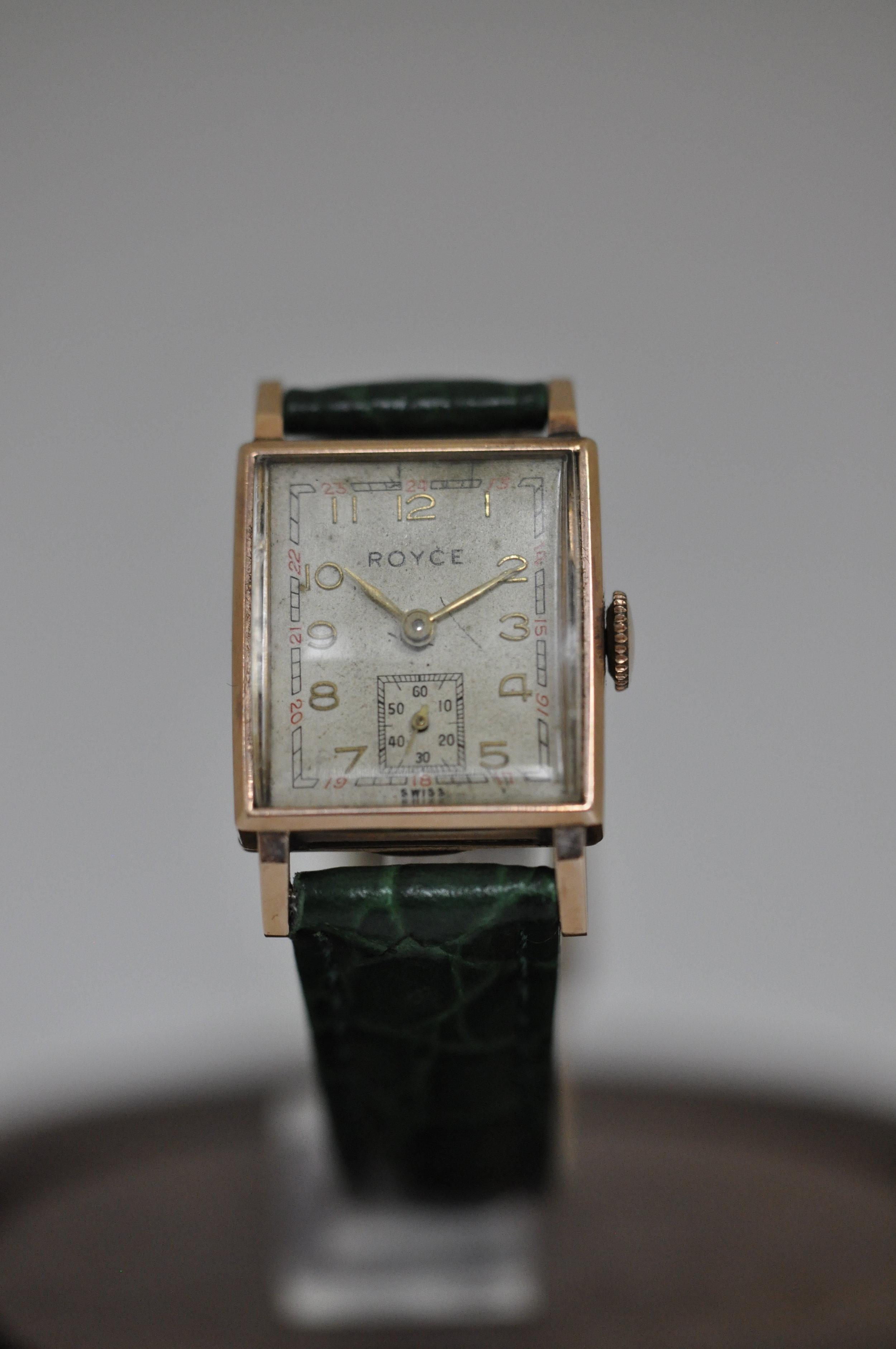 Vintage 14K Royce Mens Watch