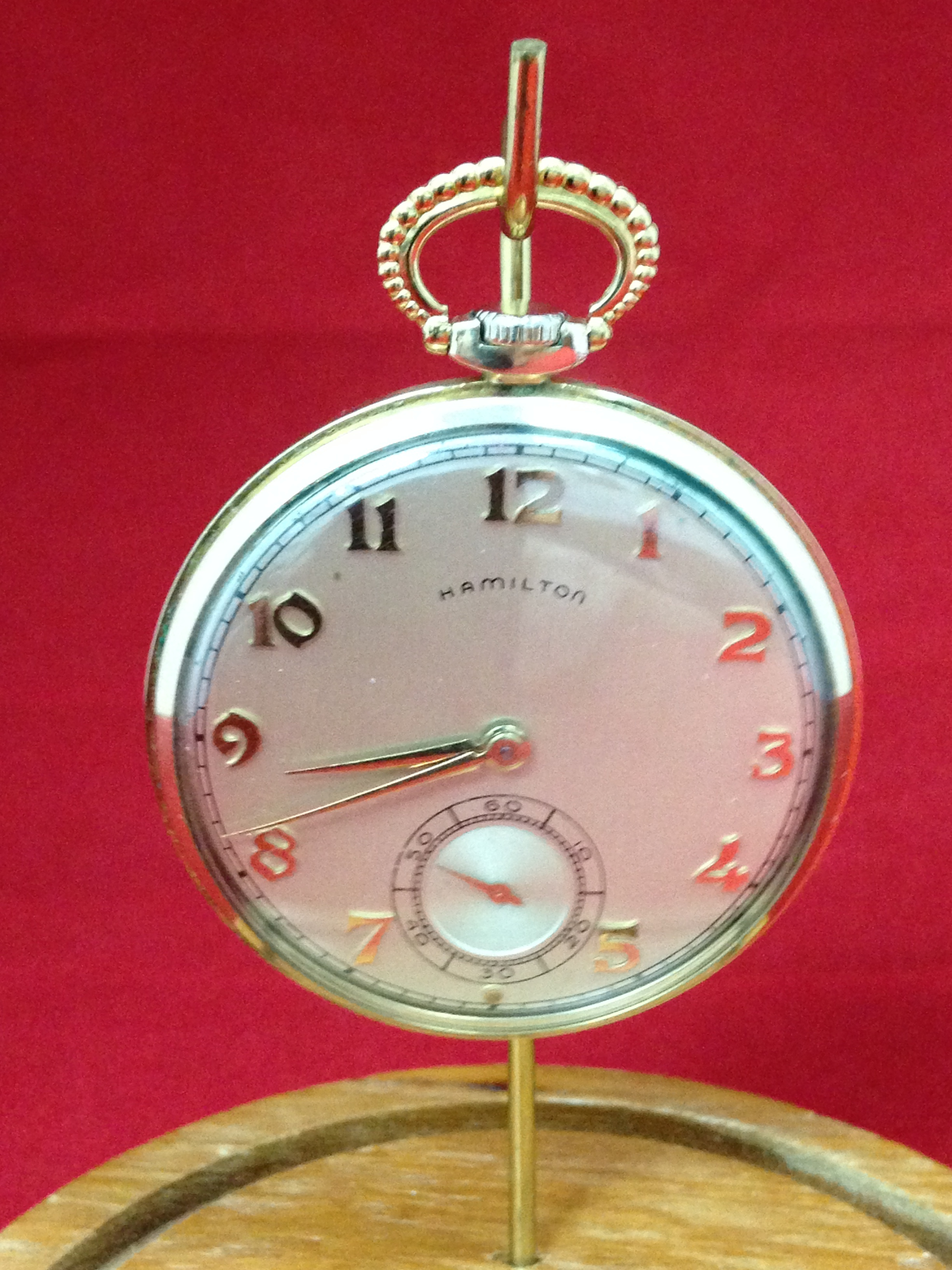 Hamilton Very Thin Gentlemans Pocket Watch