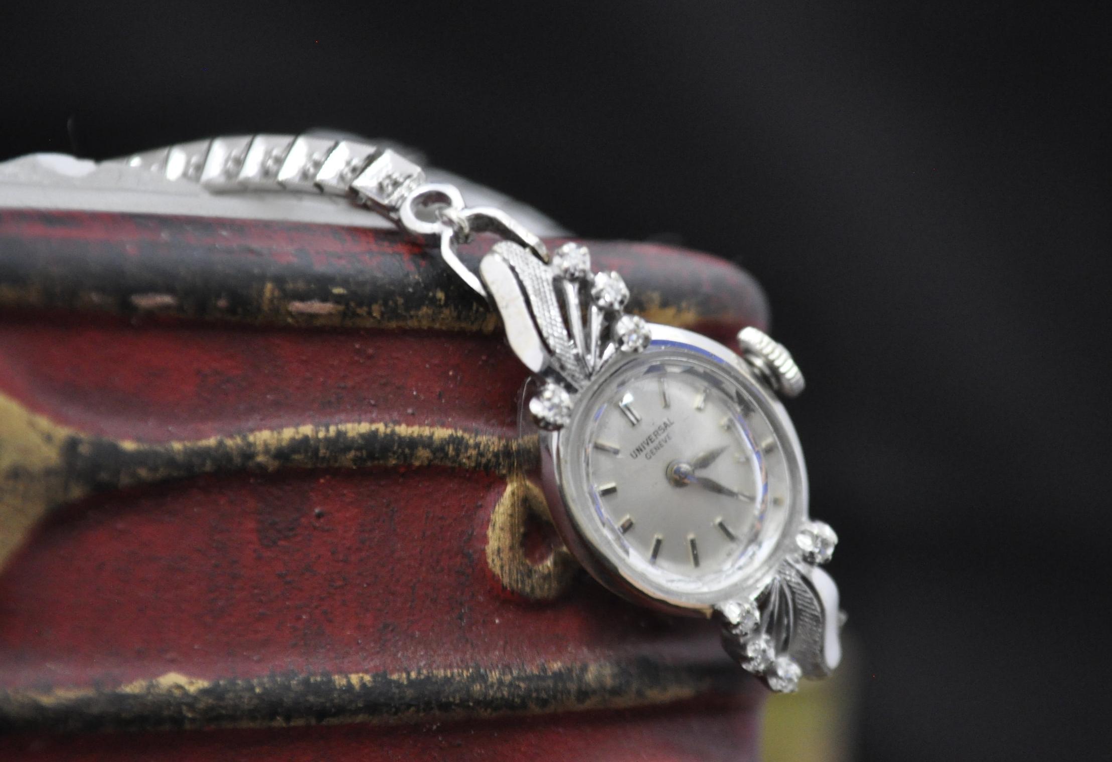 Universal Geneve Swiss Made Women's Diamond Watch