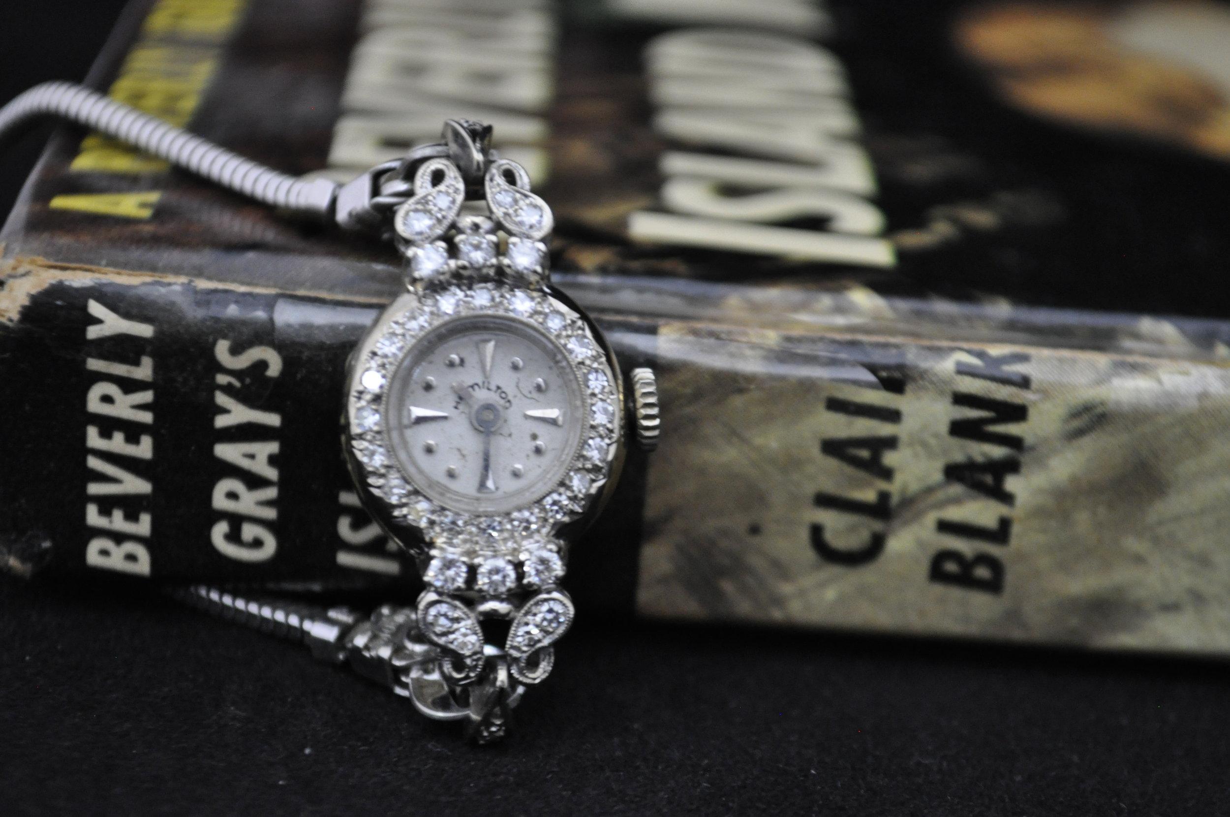 Hamilton 14K Gold Women's Diamond Watch