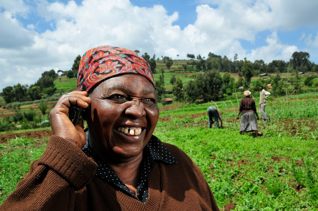 A farmer in Kenya