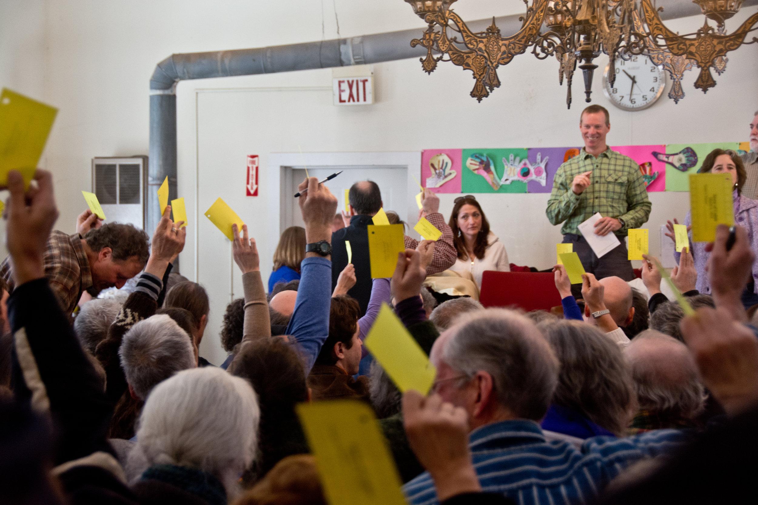 A town meeting in vermont. Photo:Erika J Mitchell/shutterstock