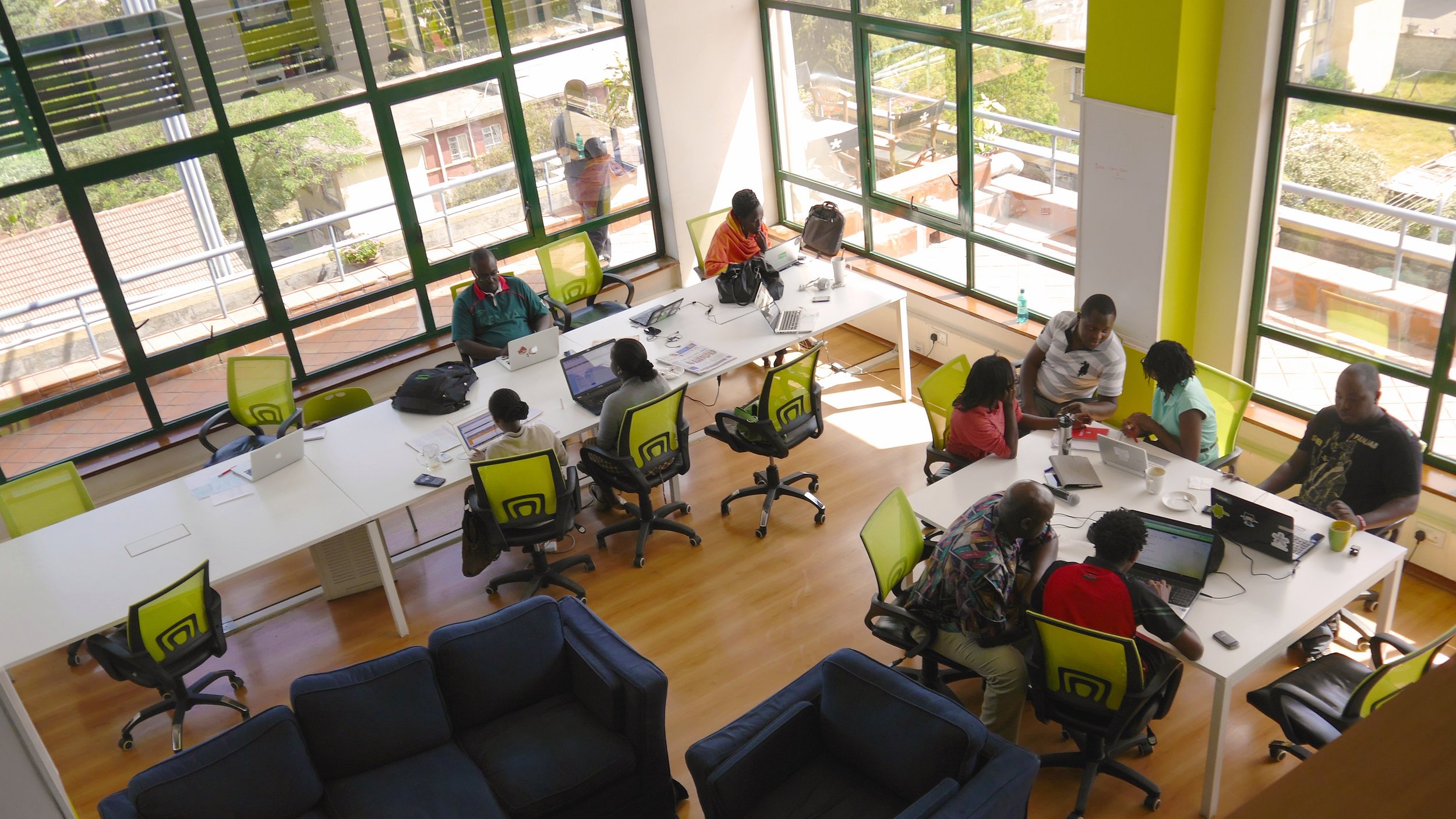 A tech start-up co-working space in nairobi. Photo: rvdw images /shutterstock